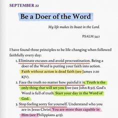 Be a doer of the word