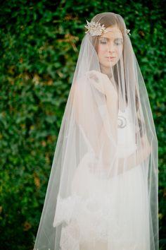 Bridal veil double layer veil fingertip by SmithaMenonbridal, $95.00