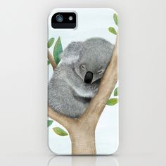 Sleeping Koala Bear iPhone & iPod Case by Hooray Creative | Society6