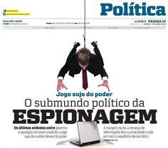 Foto montagem pro caderno de Política do Jornal O POVO (tema espionagem)
