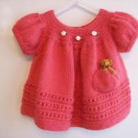Baby Girl Knitted Sweater Pattern : Knitting for Baby on Pinterest Ravelry, Baby Dresses and Knitted Baby