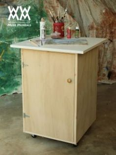 Mobile cart for painting and finishing. | Woodworking for Mere Mortals