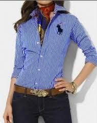 Discount Ralph Lauren Polo Women Shirts for the Working . Mode Outfits, Casual Outfits, Fashion Outfits, Womens Fashion, Casual Shirts, How To Look Classy, Look Chic, Ralph Lauren Womens Clothing, Business Mode