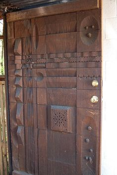 Door Carved by Leroy Setziol at the Frank Shell House