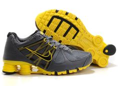 Shox Nike Shox Agent Grey Yellow Black [Nike Shox Agent - Breathable mesh  upper with Nike Flywire technology midfoot panels and targeted overlays  provides ...