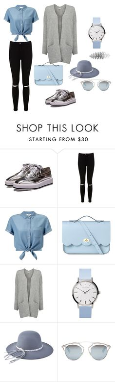 """""""like_sky_blue"""" by naida-213 ❤ liked on Polyvore featuring Miss Selfridge, The Cambridge Satchel Company, American Vintage, Christian Dior and Pieces"""