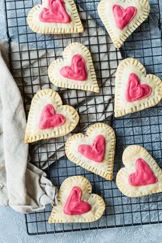 Raspberry Cream Cheese Heart Tarts from Weelicious.com   Valentine's Day Recipes, Heart Shaped Desserts, Heart Shaped recipes, easy baking, healthy baking, Fruit recipes #valentinesday #desserts #heart #pink #sweet #sweettooth #raspberry