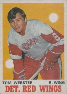 Tom Webster - Detroit Red Wings. 1969-70 O-Pee-Chee rookie hockey card.