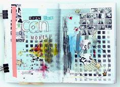made by Mumka with SODAlicious supplies (www. Journal Themes, Art Journal Pages, Art Journals, Journal Ideas, Scrapbooking, Scrapbook Albums, Art Journal Inspiration, Smash Book, Mini Books