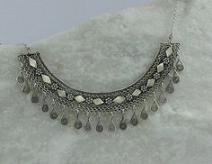 Filigree Silver  necklace Yemenite necklace Ethnic