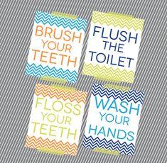 kids bathroom reminders