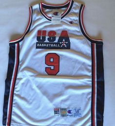 664a3c611f5e ... nwt michael jordan champion 1992 usa olympic dream team basketball  jersey sz 50 nike