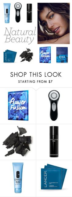 """""""Blue eyes"""" by toastedmarshmellow ❤ liked on Polyvore featuring beauty, Origins, Clarisonic, Bobbi Brown Cosmetics, Clinique, Lancer Dermatology and Nannette de Gaspé"""