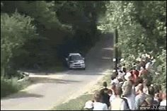 Don't stand too close to Rally Racing!