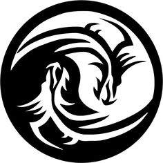 "$2.5 - Dragon Yin Yang Decal 3.75"" Select Your Color! #ebay #Home & Garden"