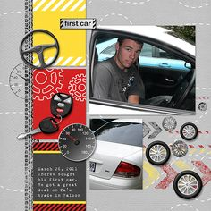my first Car Scrapbook Page | First Car - digital scrapbooking - gallery - upload your scrapbook ...