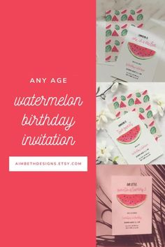 Watermelon Birthday Party Invitation Templates for Any Age - #watermelonbirthday #watermelon #fruitbirthday #twosweet #oneinamelon #littlesweetie #summerbirthday #summerparty #invite #invitation #invites #template #digitaldownload #printable #diy #birthdayparty #birthday #firstbirthday #secondbirthday #thirdbirthday Watermelon Birthday Parties, Fruit Birthday, Girls Birthday Party Themes, Fruit Party, Little Girl Birthday, Summer Birthday, Birthday Party Invitations, Invites, One In A Melon