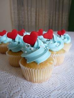 Cupcakes con #corazón: los más románticos para #SanValentín #amor #love #pareja
