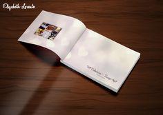 Lâmina de abertura álbum de casamento. Proporção: 30x40cm. Job para Fama Eventos, Mirassol/SP