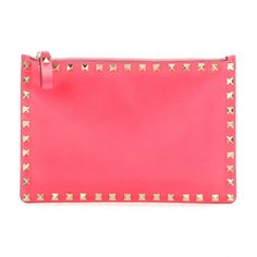 mytheresa.com - Rockstud leather clutch - Clutch bags - Bags - Valentino - Luxury Fashion for Women / Designer clothing, shoes, bags