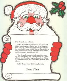 Personal Letter from Santa