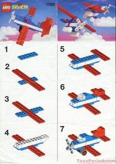 Lego Building Project For Kids 118 - mybabydoo Lego Design, Lego For Kids, Toys For Boys, Avion Lego, Instructions Lego, Lego Plane, Lego Machines, Baby Boy Toys, Lego Challenge