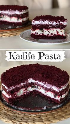 kiÅŸinin defterindeki Kadife Pasta T. How to make Velvet Cake Recipe? The illustrated explanation of the Velvet Cake Recipe in the book of people and photographs of those who try it are here. Cheesecake Recipes, Cookie Recipes, Dessert Recipes, Velvet Cake, Yummy Recipes, Yummy Food, Pie Recipes, Funfetti Kuchen, Red Wine Gravy