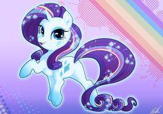 Rainbow Powered Rarity by C-Puff.deviantart.com on @DeviantArt