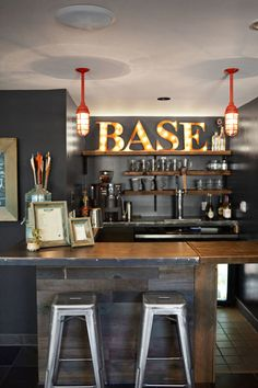 Coffee shop by day and bar by night, the lobbys drink counter serves Deschutes beers and Green Barrel wines. Home Bar Rooms, Home Bar Areas, Home Bar Decor, Man Cave Room, Man Cave Home Bar, Garage Bar, Man Cave Garage, Man Cave Shed, Garden Bar Shed