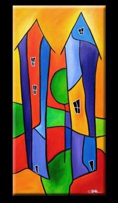 Art: Neighbors - H52 by Artist Thomas C. Fedro