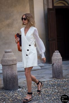 Candela Novembre Street Style Street Fashion Streetsnaps by STYLEDUMONDE Street Style Fashion Photography