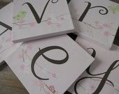 Personlized canvas name squares with cherry blossoms... love this!
