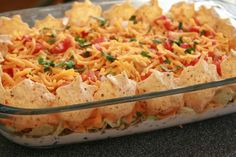 Lightened-Up and Mexican Layered Dip