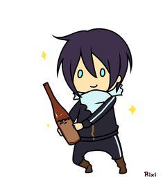 #Yato Noragami All Anime, Anime Manga, Yato And Hiyori, Ghibli Movies, Blue Exorcist, Cute Gif, Sword Art Online, Otaku, Chibi