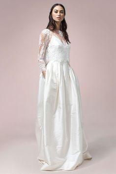 Rue De Seine Grace Blouse and Sophia Gown available at The Bridal Atelier || www.thebridalatelier.com.au