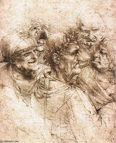 Leonardo Da Vinci-grotesken köpfe windsor burg