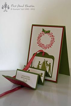 Stampin' UP! Es weihnachtet sehr Perfekte Pärchen Moving Card Two Tags