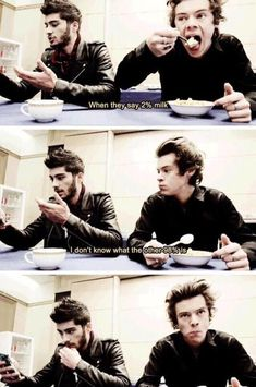 Harry just looks so feed up with the ignorance that is zayn. Sorry zayn but come on for reals One Direction Humor, One Direction Memes, One Direction Pictures, I Love One Direction, Style Zayn Malik, Foto One, Alternative Rock, 1d Imagines, 1d And 5sos
