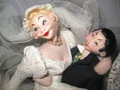 Fabulous Vintage Roldan Klumpe Bride & Groom Spain