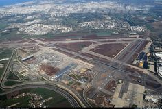 Ben-Gurion Airport from the air, you can see the extension of RWY 03-21