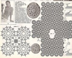 Crochet blouse — Crochet by Yana Granny Square Crochet Pattern, Crochet Diagram, Crochet Motif, Irish Crochet, Crochet Designs, Crochet Lace, Crochet Stitches, Crochet Patterns, Pull Bleu