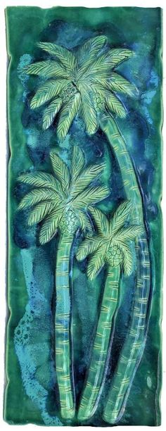 Hawaiian Sea Turtle, Hawaiian Designs, Handmade Kitchens, Humpback Whale, Tree Wall, Wall Tiles, Palm Trees, Artwork, Outdoor