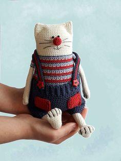 Amigurumi cat pattern Crochet toy kitty making Julius the Happy Chef Cat Crochet Patterns Amigurumi, Crochet Toys, Crochet Art, Gato Crochet, Magic Ring Crochet, Cat Pattern, Learn To Crochet, Crochet Animals, Single Crochet