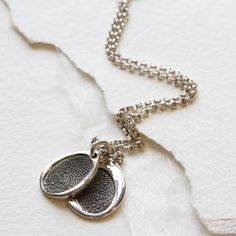 Inked Fingerprint Teardrop Pendant on a Silver Chain - Capture your loved ones fingerprints on this gorgeous necklace complete with a British made silver chain.