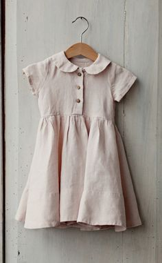Classic linen dress for your little.