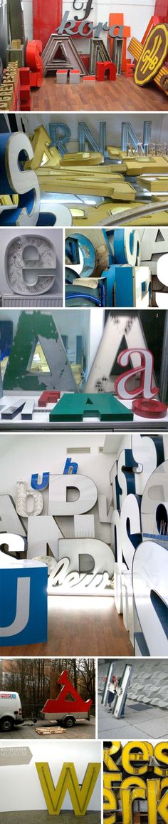 Berlin Museum on Typography, signage, letters. Type museum, Museum of Letters, Buchstaben Museum.