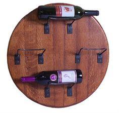 Barrel Head Wine Rack
