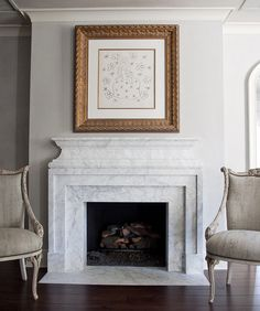 Marble mantle Colby design