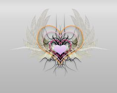 Angel With Heart | ... background holiday valentines love heart romance february angel heart