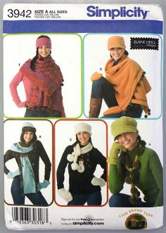 Simplicity 3942 Hat Mittens Scarf Sewing by WeStartedWithAMouse